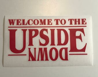 Welcome to the Upside Down  Vinyl Name Decals, Stranger Things Stickers, Stranger Things Decals, Stranger Things, Friends Don't Lie