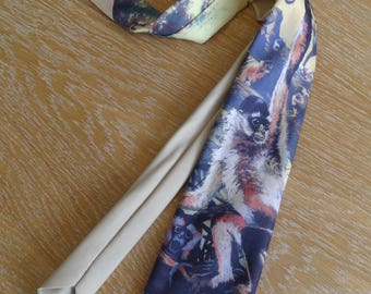 "Ralph Marlin necktie - ""Monkeys"""