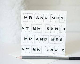 Mr And Mrs Card by VINTAGE PLAYING CARDS