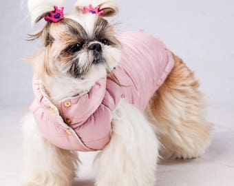 Warm Dog Vest - Winter - Christmas - Gift - Dog Raincoat - Dog Coat - Dog Clothing - Pet Clothes - Available to Any Breed - Small & Big dog