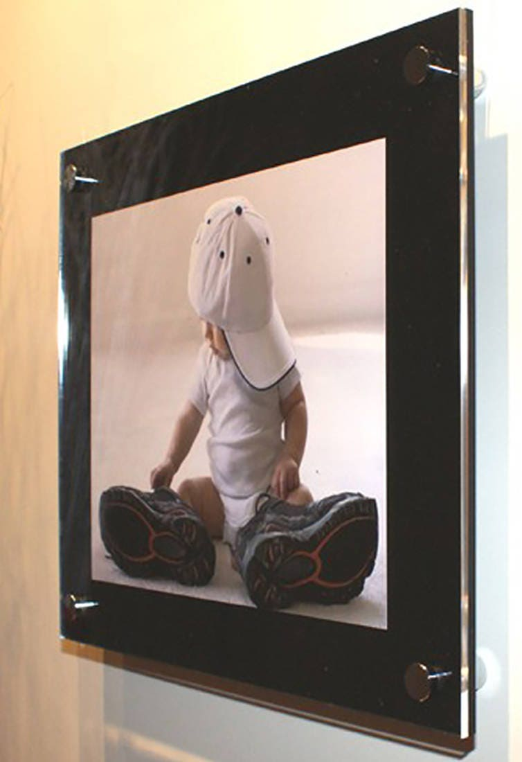 Black high gloss cheshire acrylic 10mm 12 x 16 30 x 40 cm a3 black high gloss cheshire acrylic 10mm 12 x 16 30 x 40 cm a3 16 x 20 floating picture photo frame pixi made in uk wall mount perspex jeuxipadfo Images