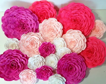 Paper Flowers Nursery Large Paper Flowers Bridal Shower Baby Nursery Wall Decor Wedding Party Supplies Paper Rosesbridal kate shower spade