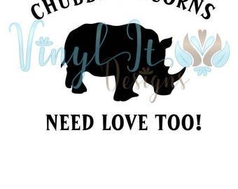 Chubby Unicorns Need Love Sublimation Transfer, Unicorn, Need Love