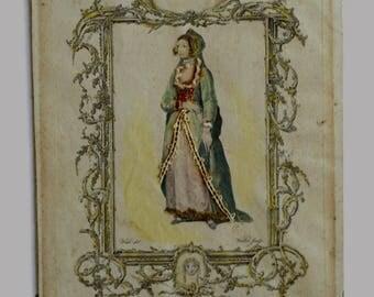 Anne Boleyn, Mountagues History of England Engraving, London, 1771