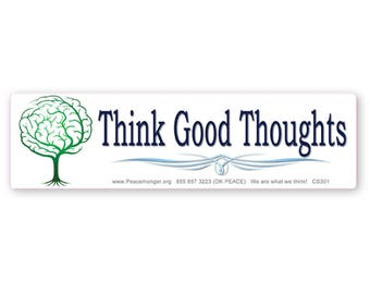CM152 Think Good Thoughts Brain Tree Color Sticker