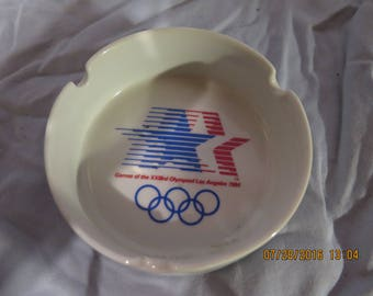 1984 Ceramic Olympics Ashtray Los Angeles L.A. XXIII 23rd Olympiad - Tobacciana