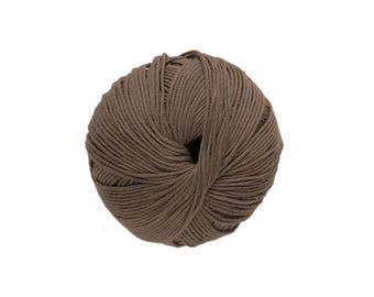 Cotton knit or crochet Natura No. 22 Tropic brown