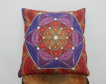 Mandala Star Pillow Case 17x17 Printed Artistic Cushion Case