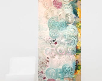"""Abstract painting,large painting  mix media 60"""" x20"""" on canvas original  wall  art,modern artwork ,commercial  art,lobby,oil and acrylic"""