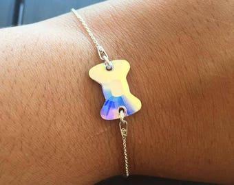 Swarovski silver Crystal bow bracelet