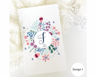 Personalized Notebook, Custom Name notebook, Monogram Notebook, Plain Notebook, Custom Journal, Blank Notebook, Bullet Notebook, Journals.