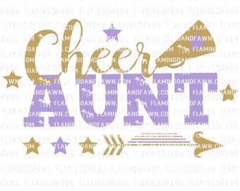 cheer aunt svg, cheerleader svg, cheer svg, svg cheer, cheerleading aunt svg, cheer leader svg, svg files, pom pom svg, cheer aunt dxf