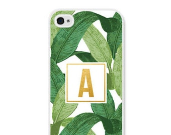 iPhone 6 Case Leaves iPhone 6s Case iPhone 5s Case Banana Leaf Gift Personalized Womens Personalized Phone Case iPhone 5 Case iPhone 5c Case