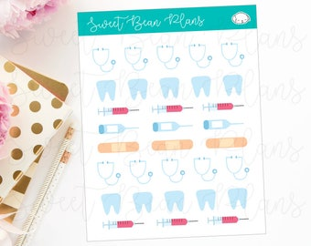 Doctor Appointment/Medical/Nursing Planner Stickers