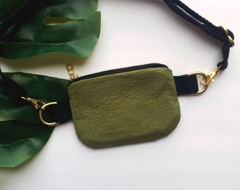 Olive Green Mini Waist Pouch