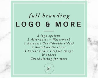 Custom Full Branding Custom Logo Design Branding Packaging Custom Photography Logo