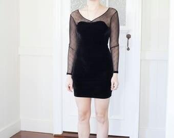 90s Velvet Mini Dress