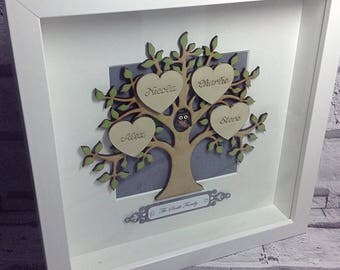 Family Tree Frame, Mothers Day, Gift for her, Gift for him, Fathers Day, Gift for grandparents, Gift for friend, Gift for mum, Gift for dad