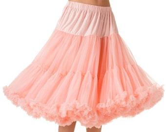 Elizabeth Stone Pastel Pink 1950's Rockabilly Swing Underskirt Petticoat 22 or 26 Inch length