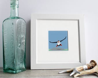 Puffin art print bird illustration coastal art bird art print bird lover gift nursery art wall décor wall art digital art coastal bird