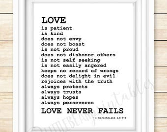 Love Quote From The Bible Magnificent Quote About Love Etsy