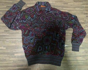 Vintage Missoni Fleece Pulloverzip Sweatshirt Men Size L