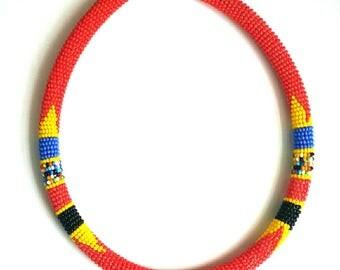 Beaded choker, African choker, Maasai choker, Handmade choker, African necklace,