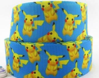 "Ruban imprimé ""Pokémon /Pikachu"""