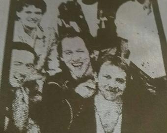 Dire Straits, vintage concert scarf 80s , rare .
