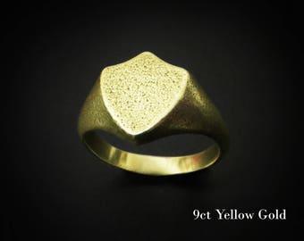 Gold Signet Ring, 18k gold mens ring, custom signet ring, mens signet ring, women Norse Ring, Viking Ring, mens ring, Viking Jewelry, Gold