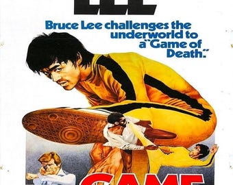 Back to School Sale: The Game of Death Movie Poster Kung Fu Bruce Lee 1978