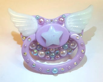 Star w Wings decorated Adult pacifier abdl cgl
