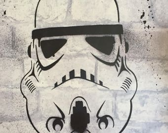 Graffiti Storm Trooper inspired graffiti A3 print