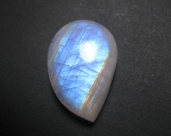 Natural Rainbow Moonstone cabochon Fancy shape loose semi precious gemstone cabochon size 15 x 22 mm approx ET 1493 Rainbow Flashy