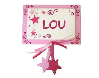 DREAM star door nameplate for child
