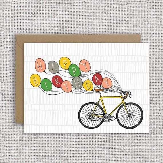 Célèbre JOYEUX ANNIVERSAIRE VÉLO carte danniversaire de cycliste GL19