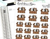 Couch Planner Stickers - TV Planner Stickers - Roseanne Inspired Stickers - Dog Planner Stickers - Cat Stickers - 1658