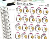 Painting Planner Stickers - Artist Planner Stickers - Paint Night Stickers - Cat Planner Stickers - Create Planner Stickers - 1684
