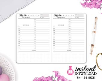 Printable TN Inserts - B6 Size / Foxy Fix #5 - Daily Planner - Travelers Notebook