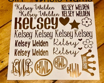 Back to School Name Label, Kid Names, Personalized School Supply Labels, Name Tags, Custom School Supplies