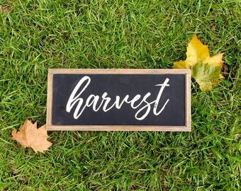 Rustic Fall Harvest Wood Sign ~ Fall Decor ~ Harvest Sign ~ Fall Painted Sign ~ Fall Home Decor ~ Painted Harvest Sign ~ Farmhouse Sign