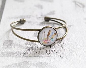 Boho cabochon bracelet