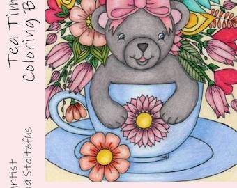 Tea Time Coloring Book PDF