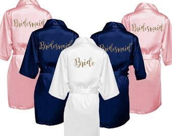 Bridesmaid Robes - Satin Bridesmaid Robes - Bridal Party Robes - Personalized Bridesmaid Robes - Bridesmaid Gifts - Robe - Satin Robes