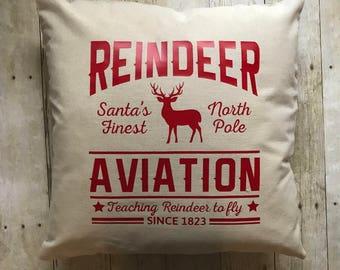 Christmas pillow- christmas pillow cover- reindeer pillow- christmas decoration- christmas decor- reindeer- christmas reindeer decoration