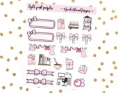 Light Pink Sampler, Bow Planner Stickers