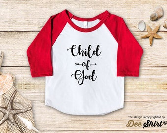 I Am Child of God; Christian Shirt; Cute Baptism Tee; Love Jesus T-Shirt; Sunday School Kids Church Outfit, Cool Christmas Holiday Gift Idea