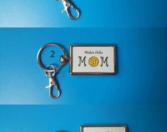 Water Polo Mom Keychain