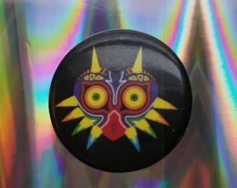 """Nintendo The Legend of Zelda Majora's Mask 1"""" metal pin"""