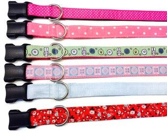 Medium Easter Dog collar, Easter Dog collar, Spring dog collar, Easter Bunny dog collar,  Medium dog collar,
